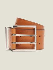 Cintura Larga In Pelle : null colore Curcuma