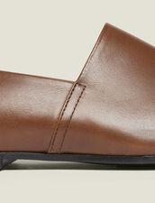 Slipper In Pelle : Scarpe colore Marrone