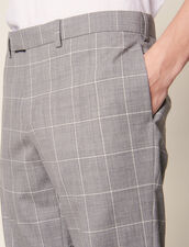 Pantaloni Da Completo Classici Super 120 : LastChance-RE-HSelection-Pap&Access colore Grigio Chiaro