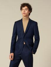 Giacca da completo in lana : Abiti & Smoking colore Blu Marino