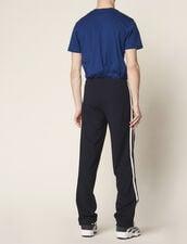 Pantaloni In Jersey Decorati Con Righe : Sélection Last Chance colore Nero