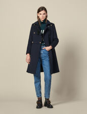 Cappotto militare in misto lana : Copy of VP-FR-FSelection-PAP&ACCESS colore Blu Marino