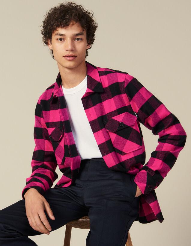 Camicia A Quadri In Cotone : Collezione Inverno colore Rosa