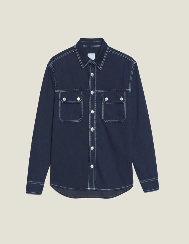 Camicia In Denim : LastChance-RE-HSelection-Pap&Access colore Blue Night - Denim