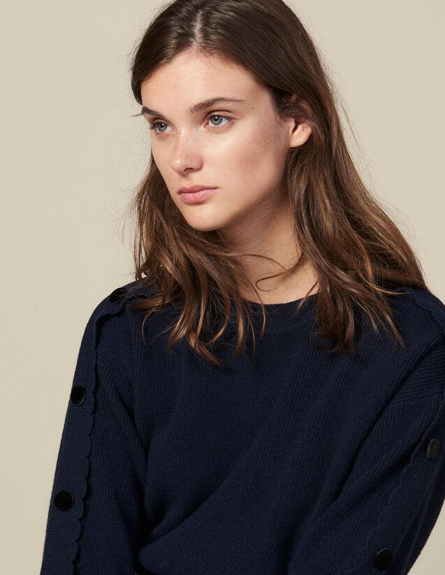 Pullover Con Bottoni Alle Maniche : Maglieria & Cardigan colore Blu Marino