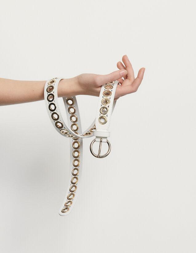 Cintura con fibbia tonda e occhielli : L'intera collezione Invernale colore Nero