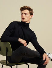 Pullover a collo alto in lana : Maglioni & Cardigan colore Nero