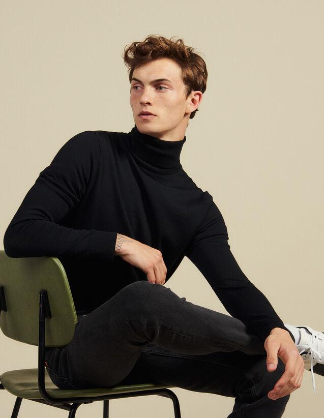 Pull à col roulé en laine : Pulls & Cardigans couleur Rose