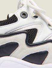 Sneaker Mix Di Materiali : Collezione Estiva colore Grigio
