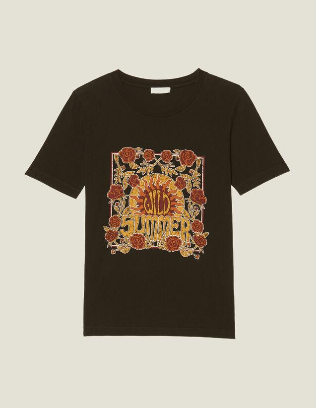 T-Shirt Con Motivo Piazzato : Magliette colore Nero