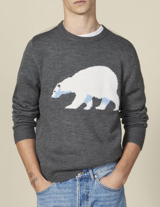 Pullover con animale : Maglioni & Cardigan colore Grigio screziato medio