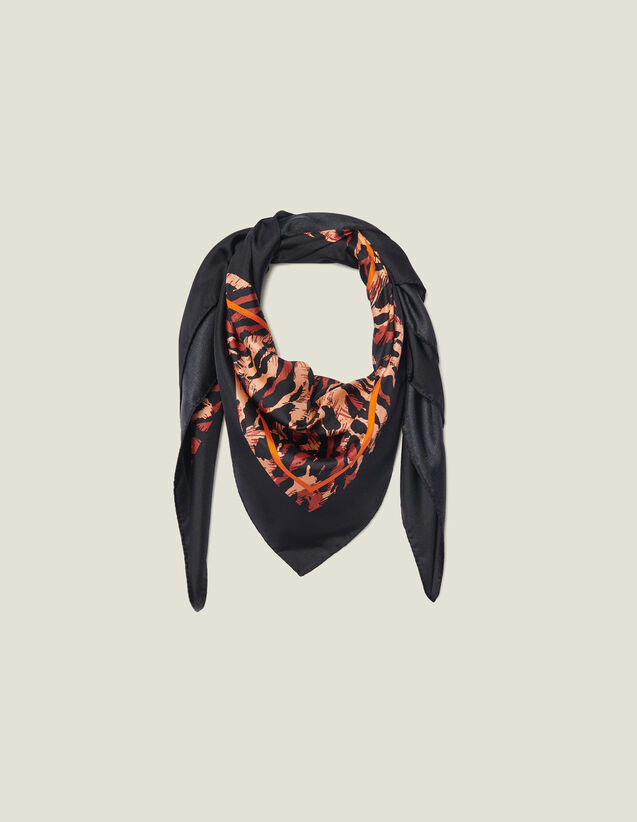 Foulard in seta stampata : FBlackFriday-FR-FSelection-AutresAccessoires colore Nero