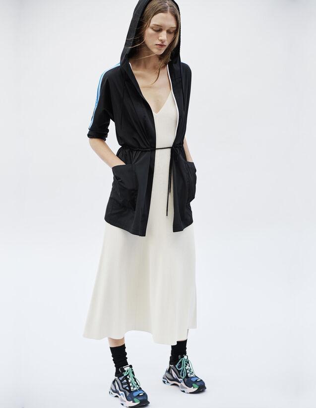 Manteau Coupe-Vent Avec Galons À Message : null couleur Noir