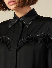 Camicia Con Inserti Western : Top & Camicie colore Ecru