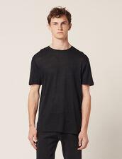 T-Shirt En Lin : T-shirts & Polos couleur Marine
