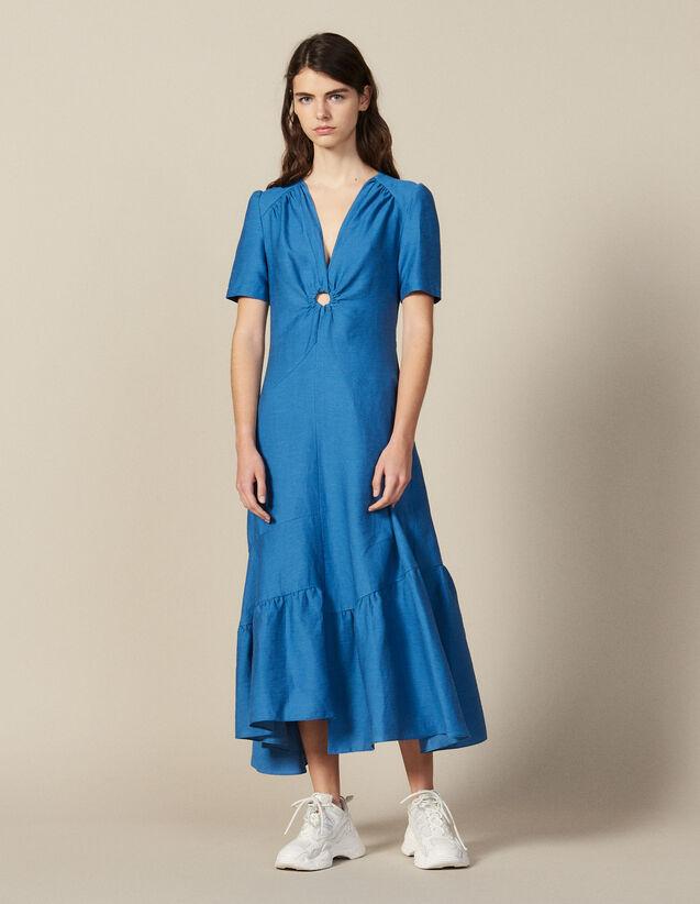 Abito Lungo Con Anello Rivestito : LastChance-FR-FSelection colore Blue jeans