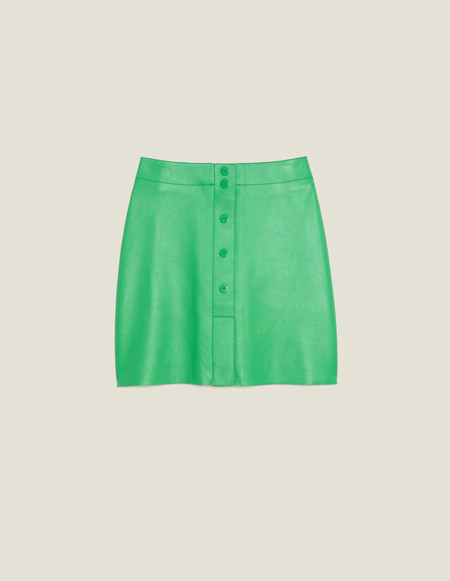 Gonna In Pelle Fluo : Gonne & Short colore Verde