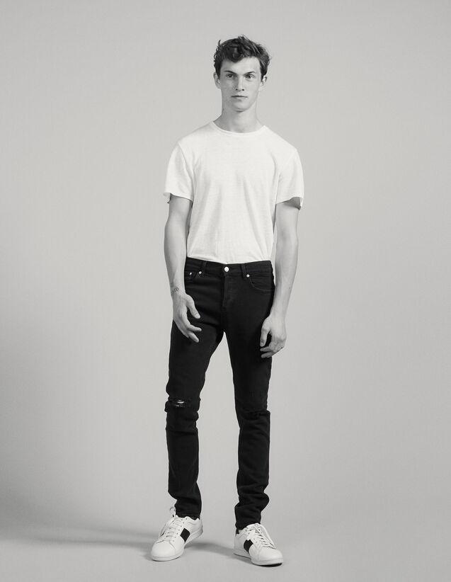 Jeans Neri Destroy - Skinny : Jeans colore Nero