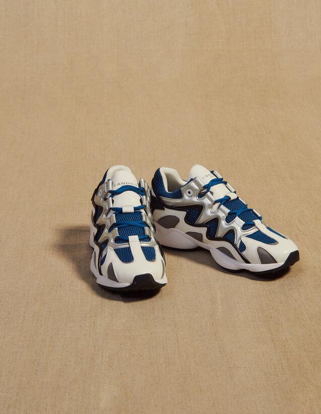 Sneaker Mix Di Materiali : Scarpe colore Blu