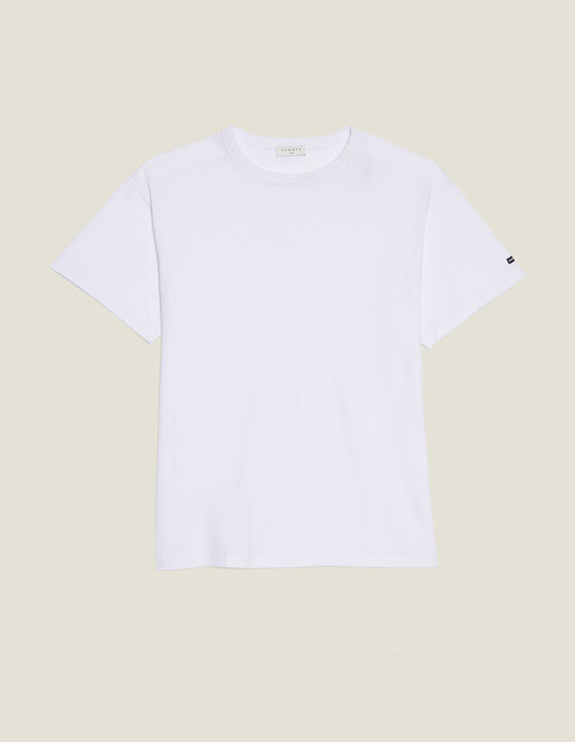 T-Shirt Over Size In Cotone : SOLDES-CH-HSelection-PAP&ACCESS-2DEM colore Bianco