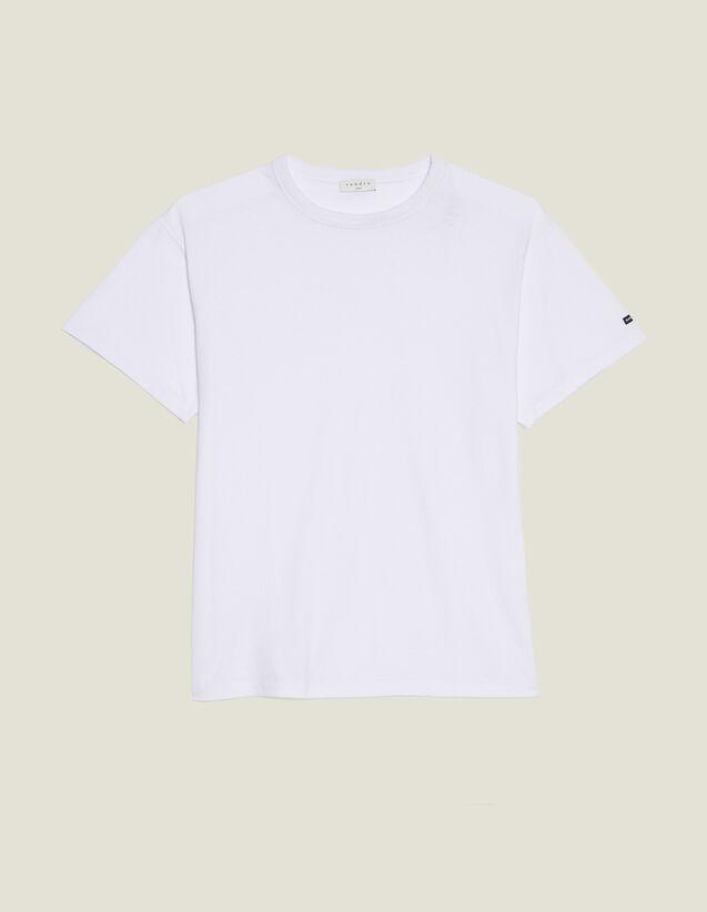 T-Shirt Over Size In Cotone : Magliette & Polo colore Bianco