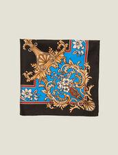 Foulard in seta con stampa barocca : L'intera collezione Invernale colore Nero