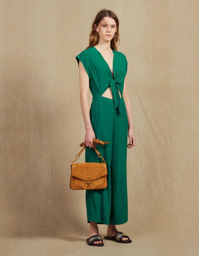 Combinaison Pantalon Avec Top Noué : null couleur Vert