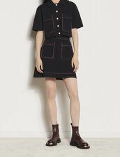 Cardigan corto stile camicia : Maglieria & Cardigan colore Nero