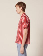 Camicia Maniche Corte Righe A Contrasto : Sélection Last Chance colore Rosso