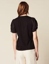 T-Shirt Con Maniche Corte A Sbuffo : null colore Nero