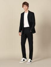 Pantaloni da completo classici in lana : Abiti & Smoking colore Nero