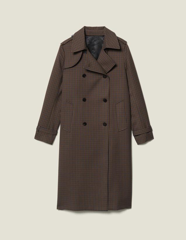 Trench-Coat À Carreaux : FBlackFriday-FR-FSelection-Blousons&Manteaux couleur Multicolore