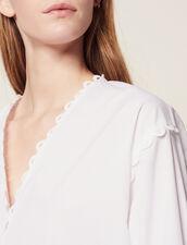 Top In Cotone A Maniche Lunghe : null colore Bianco