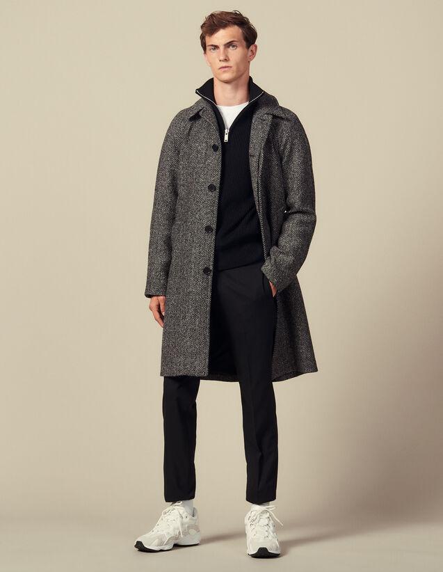 Cappotto Con Cintura : Trench & Cappotti colore Noir/Gris