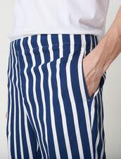 Pantaloni Con Righe A Contrasto : Sélection Last Chance colore Blu Marino