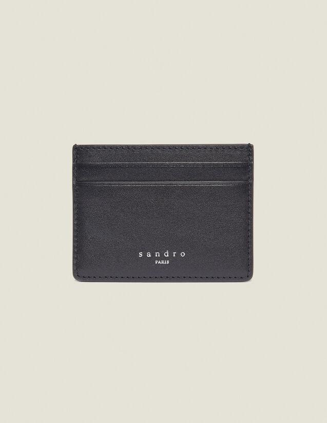 Porte-Cartes En Cuir Lisse : Porte-cartes & Portefeuilles couleur Noir