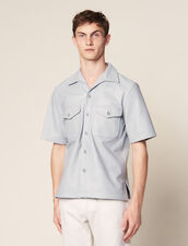 Camicia A Maniche Corte In Agnello : Copy of Tutta la Selezione colore Sky Blue