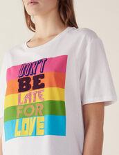 T-Shirt Con Scritta In Cotone : null colore Bianco
