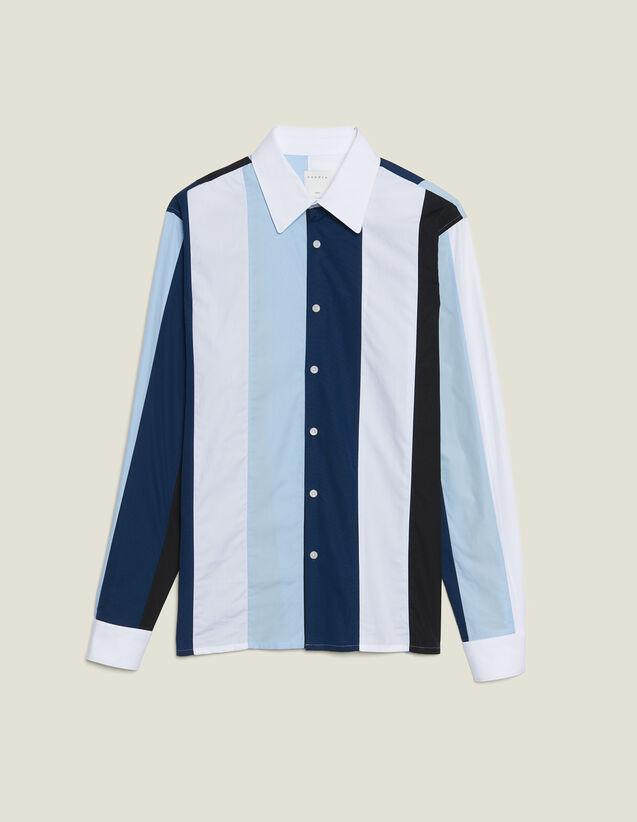 Camicia A Righe Multicolori : Sélection Last Chance colore Blu