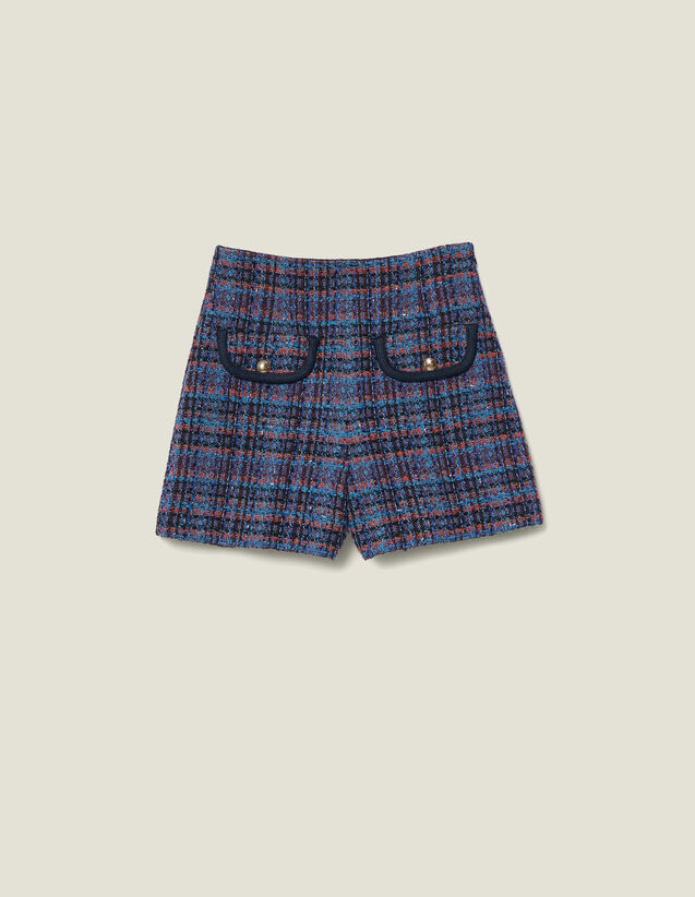 Short En Tweed : Jupes & Shorts couleur Multicolore
