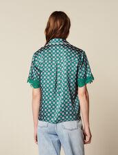 Camicia Pigiama Stampata : Camicia stampata colore Verde