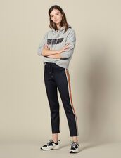 Pantaloni Da Jogging Con Righe Sui Lati : FBlackFriday-FR-FSelection-Pantalons&Jeans colore Blu Marino