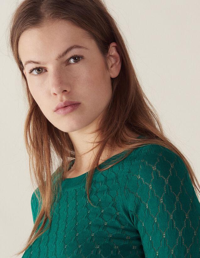 Pullover Fantasia A Maniche Lunghe : Maglieria & Cardigan colore Verde