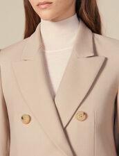 Manteau En Laine À Double Boutonnage : Manteaux couleur Beige