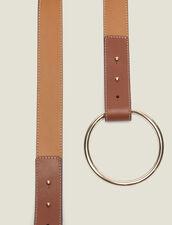 Cintura Con Chiusura Ad Anello : null colore Cammello