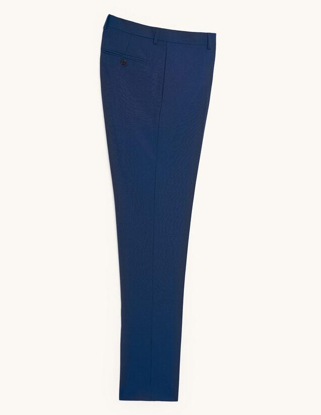 Pantalon de costume en laine et mohair : Costumes & Smokings couleur Bleu