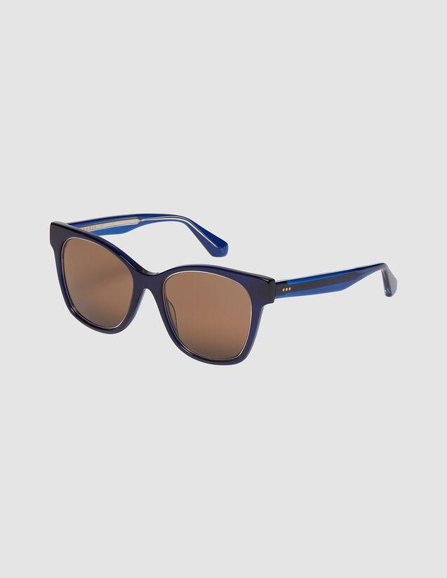 Occhiali Oversize : Occhiali da sole colore Tabacco