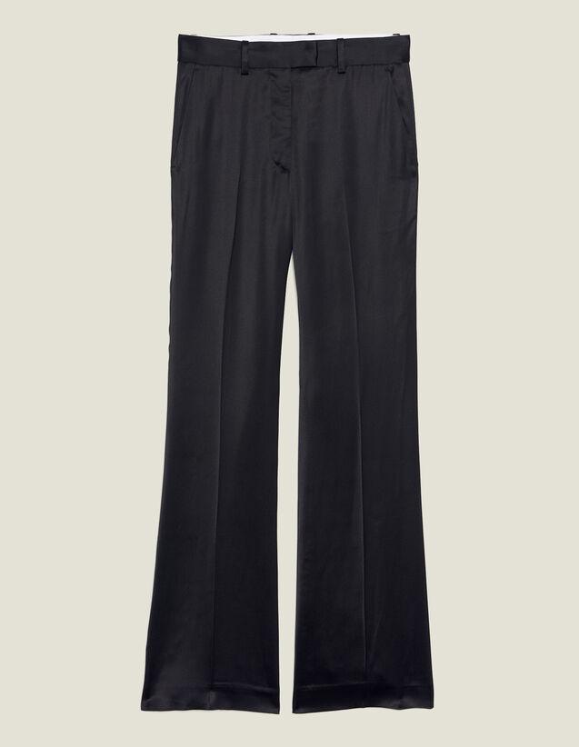 Pantaloni In Satin : null colore Nero