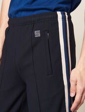 Pantaloni In Jersey Decorati Con Righe : SOLDES-CH-HSelection-PAP&ACCESS-2DEM colore Nero