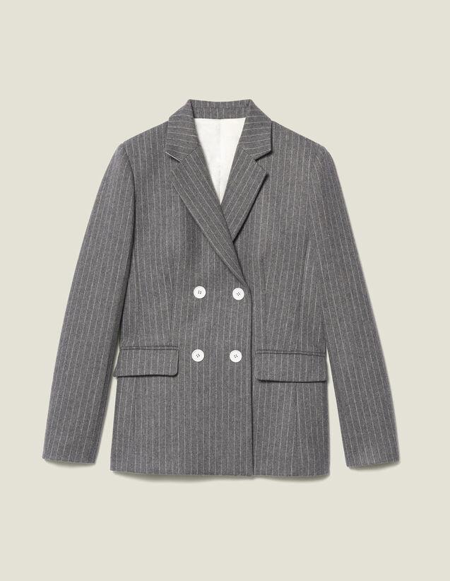 Giacca da tailleur in flanella : Giacche & Giubbotti colore Grigio